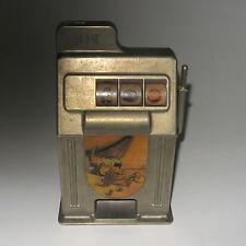 Vintage 1950's Slot Machine Figural Coin Dime Bank Bigler Mfg Co Las Vegas