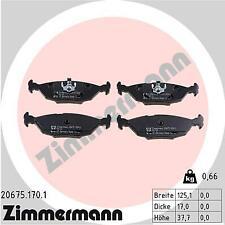Rear Brake Pads BMW E28 E30 Zimmermann 34211157925 34211157926 34211159003