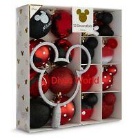 Disney Mickey Minnie Baubles PK Of 25 Christmas Tree Decoration Gift Set Primark