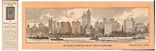 Rare 1911 Bookmark - The Skyline of Lower New York City by Edwin F. Meeker