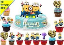 Despicable Me Minions Cup Cake 3D Scene Toppers Birthday Wafer Edible STAND UP