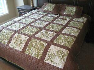 Hawaiian Quilt Comforter bedding w 2 shams patchwork 100% cotton  Kauhaul Living