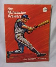 The Milwaukee Brewers Baseball 1970 Inaugural Yearbook w/ Autographs    T*