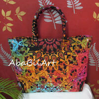 New Large Indian Star Tie Dye Shopping Purse Hobo Bag Hippie Women Shopping Bags