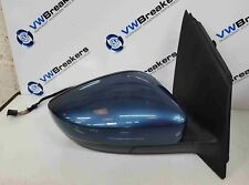 Volkswagen Polo 6C 2014-2017 Drivers OS Wing Mirror Blue LD5L