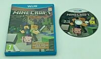 Minecraft Nintendo Wii U Edition Video Game PAL UK Tested Super Mario Mash Up
