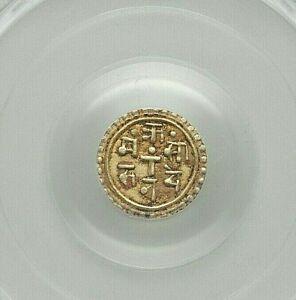 ND (1847-1881) NEPAL SHAH DYNASTY SURENDRA VIKRAMA GOLD 1/8 MOHAR PCGS AU-53