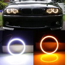 2Pcs 95MM Car COB LED Angel Eye lights Driving Turn Signal Halo Rings Lamp Kit