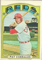1972 Topps Baseball #705 SP Pat Corrales Cincinnati Reds High Number Card