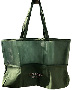 NEW Kate Spade New York Bow Shopper Extra Large Foldable Shopping Tote Green