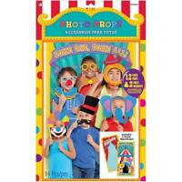 CARNIVAL Photo Booth Props Kit Party CLOWNS Decorations Backdrop Scene Setter