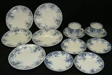 Alfred Meakin Westmeath 13pc Set Flow Blue China