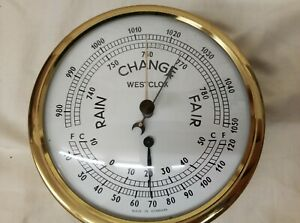 Brass Ship Barometer