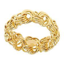 Eternity Gold Rosette Chain Band Ring in 14K Gold