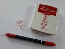 Stampin up ✿ Stempelkissen Glutrot + Maker ✿ Set Stift Real Red Rot TOP