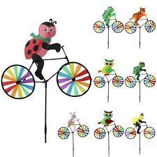 New Animal Bicycle Windmill Wind Spinner Decoration Home Yard Garden Decor