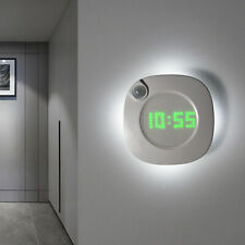 LED Digital Time Wall Clock With PIR Motion Sensor Night Light Home Clock Lamp