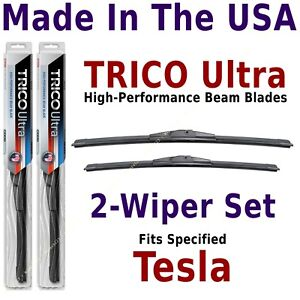 Buy American: TRICO Ultra 2-Wiper Blade Set fits listed Tesla: 13-28-18