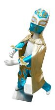 SIN CARA (6yr-11yr) Halloween Lucha Libre Luchador Complete Costume Set - Blue