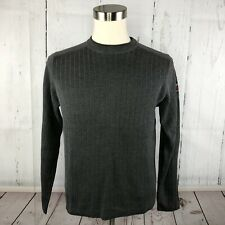 Vintage ABERCROMBIE & FITCH Mens Sweater Sz M Muscle Fit Ribbed Crewneck 90s
