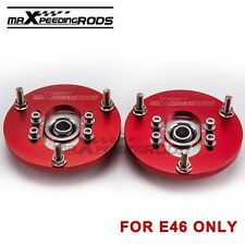 Pair Adjustable Camber Plates for BMW E46 3 Series Top Mount Suspension Plate