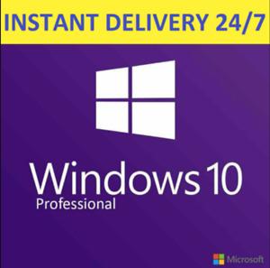 Windows10 PRO ⚡️ 32/64 BIT 🔑 Professional Genuine Activation ⚡️ License KEY