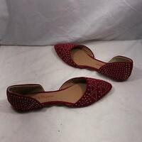 aadf6e6307f6 Mary Pepper Red Jelly Flats Sandals Bow Sz USA 8 Halloween Dorothy ...