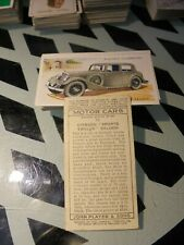 "PLAYER'S "" MOTOR CARS [SECOND SERIES] 1937"" FULL VG SET [s]"