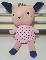 KMART PINK PIG PLUSH TOY WITH CROWN SPOTTY DRESS PLUSH TOY ANIMAL SOFT TOY 35CM