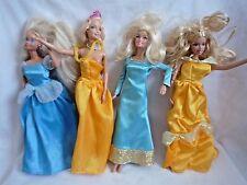 BUNDLE OF 4 VINTAGE BARBIE DOLLS WITH DRESSES