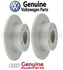 For Audi 100 A6 VW Passat Pair Set of Rear Disc Brake Rotors Solid OEM Genuine