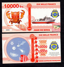 ILE JUAN DE NOVA ● TAAF / COLONIE ● BILLET POLYMER 10000 FRANCS ★ N.SERIE 000003