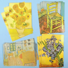 Box of 20 VINCENT VAN GOGH Blank NOTE CADS Chair IRIS Room SUNFLOWERS