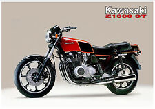 KAWASAKI Poster KZ1000 ST Z1000ST MKII Shaft 1980 Suitable to Frame