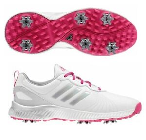 adidas Women's Response Bounce Golf Shoes - 10 (Cloud White/Real Magenta)