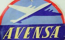 1940's-50's Avensa Venezuela S.A. Luggage Label Original E19