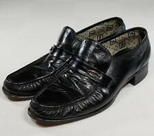 Florsheim Loafers Mens Size 10 B Black Leather Slip On Dress Casual Dress Shoes