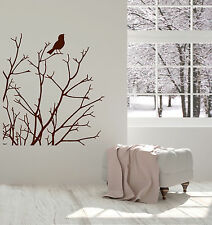 Vinyl Wall Decal Tree Branches Bird Nature Room Decoration Stickers (ig4886)