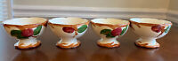 """FRANCISCAN """"Apple"""" Set Of 4 Sherbet Footed Dessert Bowl—Made in USA"""