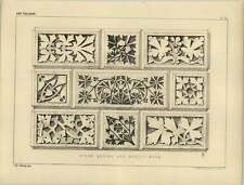 1878 Foliage Stone Quoins And Rustic Work Sculpture