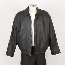 Mens Leather Jacket Size XL Insulated Faux Fur Removable Liner