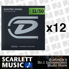 12x Dunlop DEN-1150 Nickel Plated Steel Light Electric Guitar Strings 11 - 50