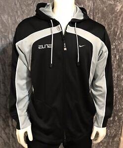 Nike Mens Large Zip Up Sphere Dry Running Jacket Elite Black/Gray Pockets NWOT