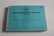 161648) Mercedes Type LAK 1518 Ersatzteilkatalog 01/1969