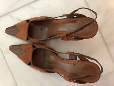 Women's Brown Classy Heels, Suede Uppers, Bandolino,New, Size 6 1/2 M