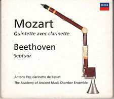 Mozart / Beethoven CD Quintette Avec Clarinette / Septuor - Digipak