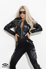 Mexton Black shiny bomber jacket XS S M