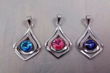 Quality Solid 925 Sterling Silver Pendant made with Swarovski Crystal
