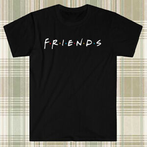 FRIENDS TV Show Logo Men's Black T-Shirt S to 3XL
