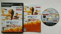 Singstar Latino PlayStation 2 PS2 Complete Game Works Tested